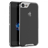 Black Luxury Electroplated PC Frame Transparent iPhone Case